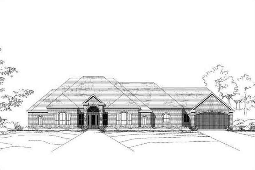 2-Bedroom, 4328 Sq Ft Luxury Home Plan - 156-1701 - Main Exterior