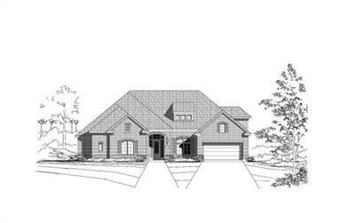 4-Bedroom, 3801 Sq Ft Luxury Home Plan - 156-1702 - Main Exterior