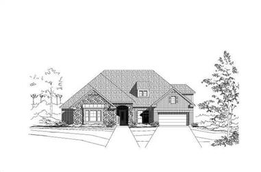 4-Bedroom, 3801 Sq Ft Luxury House Plan - 156-1703 - Front Exterior