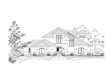 3-Bedroom, 3870 Sq Ft Contemporary House Plan - 156-1706 - Front Exterior
