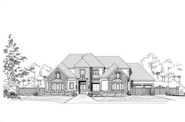 4-Bedroom, 6101 Sq Ft Country House Plan - 156-1710 - Front Exterior