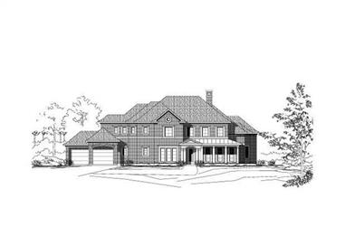 4-Bedroom, 4838 Sq Ft Luxury House Plan - 156-1712 - Front Exterior