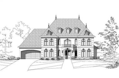 5-Bedroom, 4646 Sq Ft European Home Plan - 156-1713 - Main Exterior