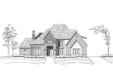 4-Bedroom, 4635 Sq Ft Tuscan Home Plan - 156-1714 - Main Exterior