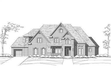 5-Bedroom, 4860 Sq Ft Country Home Plan - 156-1715 - Main Exterior