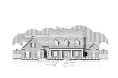 5-Bedroom, 4891 Sq Ft Luxury Home Plan - 156-1716 - Main Exterior