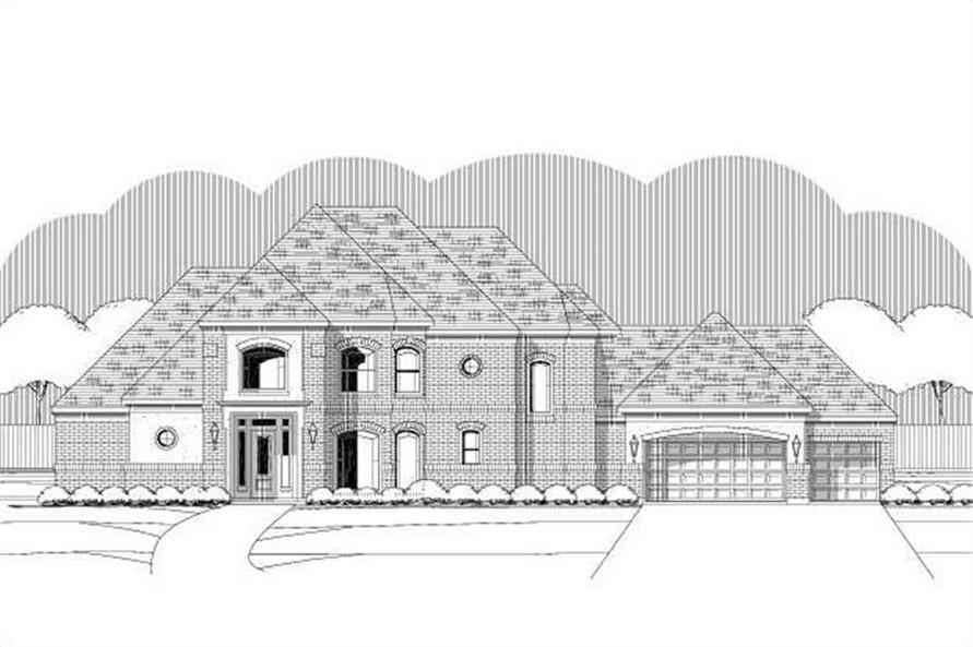 4-Bedroom, 3983 Sq Ft Luxury Home Plan - 156-1717 - Main Exterior