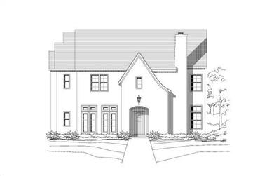 4-Bedroom, 5178 Sq Ft Contemporary Home Plan - 156-1719 - Main Exterior