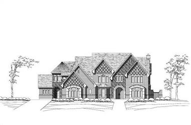 5-Bedroom, 8469 Sq Ft French House Plan - 156-1720 - Front Exterior