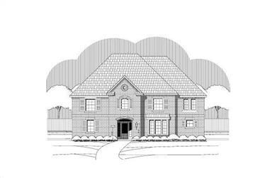 5-Bedroom, 4719 Sq Ft Luxury Home Plan - 156-1721 - Main Exterior