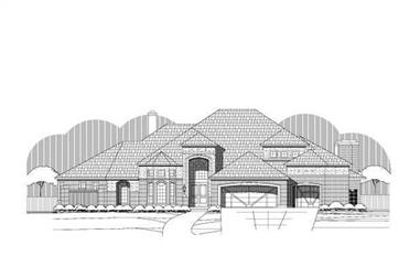 4-Bedroom, 4476 Sq Ft Contemporary House Plan - 156-1722 - Front Exterior