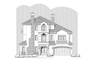 3-Bedroom, 4273 Sq Ft Mediterranean Home Plan - 156-1725 - Main Exterior