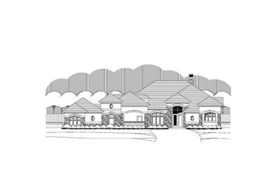 3-Bedroom, 3804 Sq Ft Tuscan House Plan - 156-1727 - Front Exterior