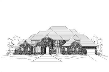 5-Bedroom, 6931 Sq Ft Luxury House Plan - 156-1729 - Front Exterior