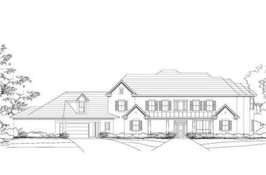 4-Bedroom, 4200 Sq Ft Luxury Home Plan - 156-1730 - Main Exterior