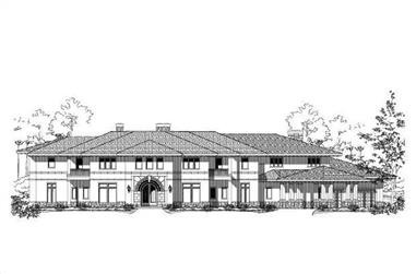 3-Bedroom, 10143 Sq Ft Luxury Home Plan - 156-1732 - Main Exterior