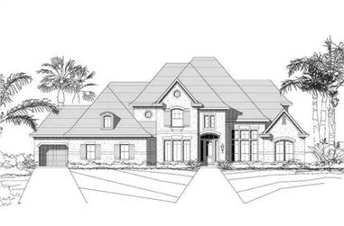 5-Bedroom, 4662 Sq Ft Luxury House Plan - 156-1733 - Front Exterior