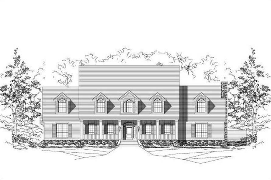 6-Bedroom, 6775 Sq Ft Colonial Home Plan - 156-1734 - Main Exterior