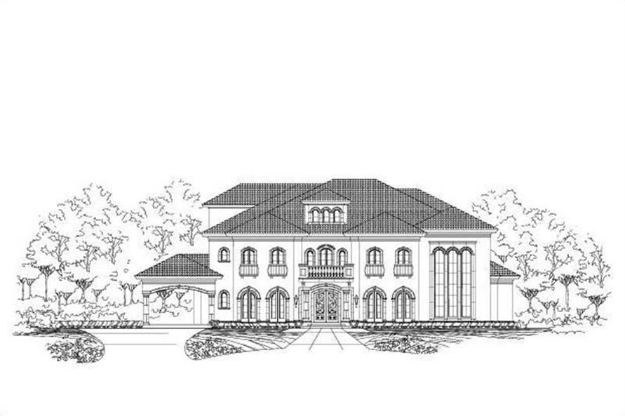 5-Bedroom, 7763 Sq Ft In-Law Suite House Plan - 156-1735 - Front Exterior