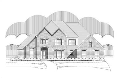 5-Bedroom, 4652 Sq Ft Luxury House Plan - 156-1736 - Front Exterior