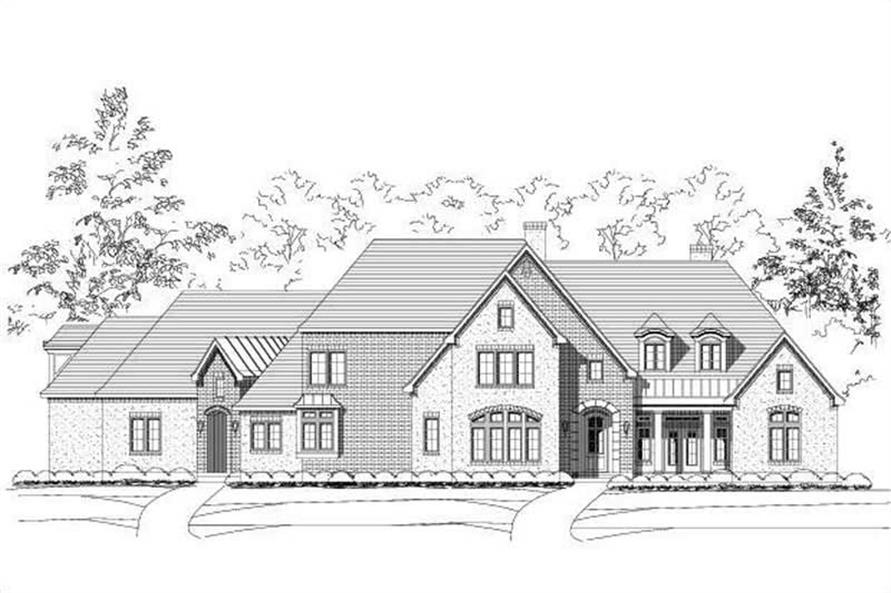 4-Bedroom, 6358 Sq Ft Luxury House Plan - 156-1737 - Front Exterior
