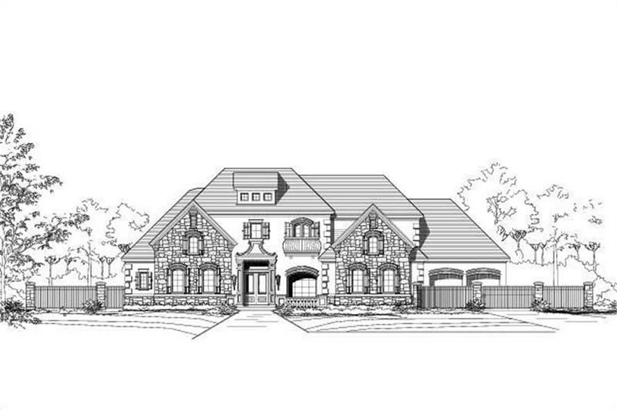 4-Bedroom, 6006 Sq Ft Country House Plan - 156-1738 - Front Exterior