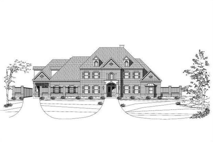 5-Bedroom, 8394 Sq Ft In-Law Suite House Plan - 156-1739 - Front Exterior