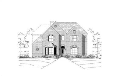 4-Bedroom, 3465 Sq Ft Luxury Home Plan - 156-1740 - Main Exterior