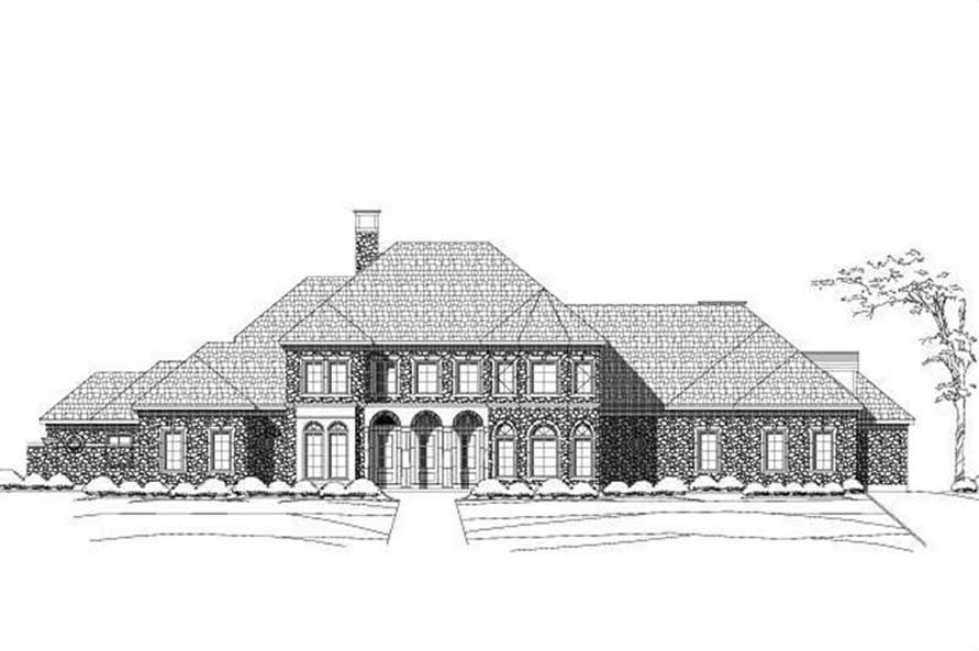 4-Bedroom, 5709 Sq Ft Luxury House Plan - 156-1741 - Front Exterior