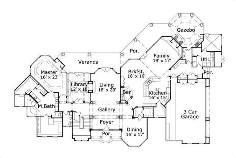 Luxury houseplans tuscan home design ohp 991007 19206 Tuscan villa floor plans
