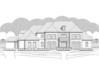 4-Bedroom, 5829 Sq Ft Luxury Home Plan - 156-1742 - Main Exterior