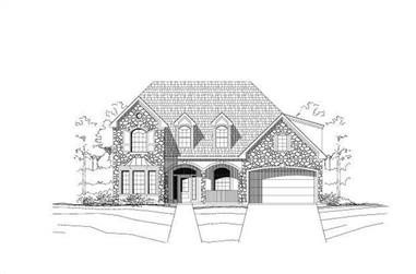 5-Bedroom, 3547 Sq Ft Transitional Home Plan - 156-1743 - Main Exterior