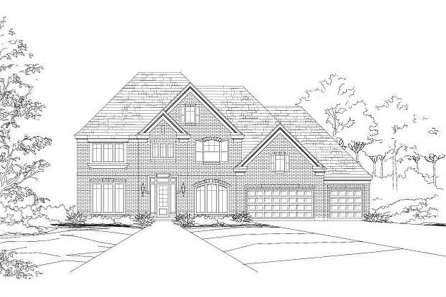 5-Bedroom, 4281 Sq Ft Luxury Home Plan - 156-1747 - Main Exterior