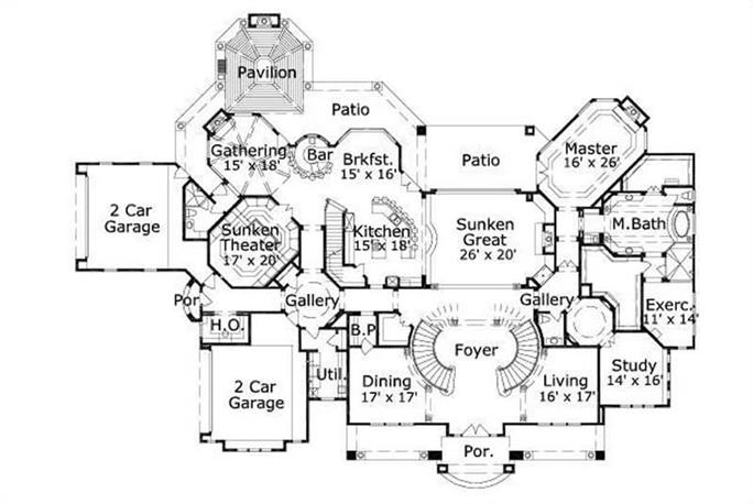 ... Floor Plan First Story HOME PLANS OHP