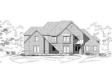 4-Bedroom, 4214 Sq Ft Luxury Home Plan - 156-1750 - Main Exterior
