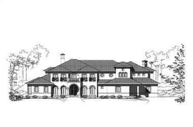 6-Bedroom, 8434 Sq Ft Luxury House Plan - 156-1752 - Front Exterior