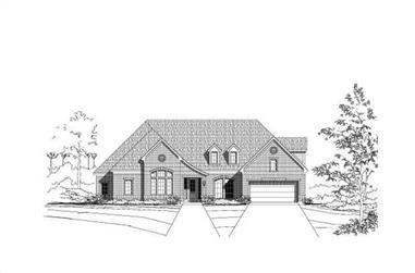 4-Bedroom, 3801 Sq Ft Luxury House Plan - 156-1753 - Front Exterior