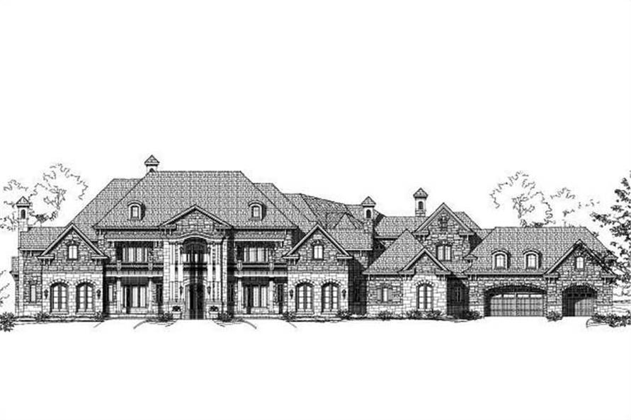 7-Bedroom, 13782 Sq Ft Luxury Home Plan - 156-1754 - Main Exterior