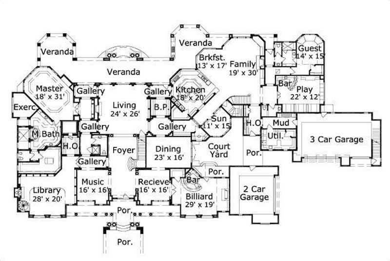 Home Plan 19291 on large dog house plans
