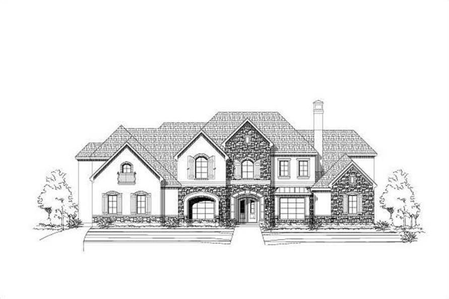 6-Bedroom, 7027 Sq Ft Luxury Home Plan - 156-1755 - Main Exterior