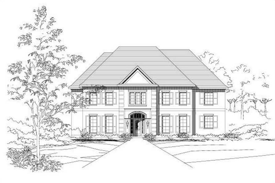 5-Bedroom, 4822 Sq Ft Luxury Home Plan - 156-1756 - Main Exterior
