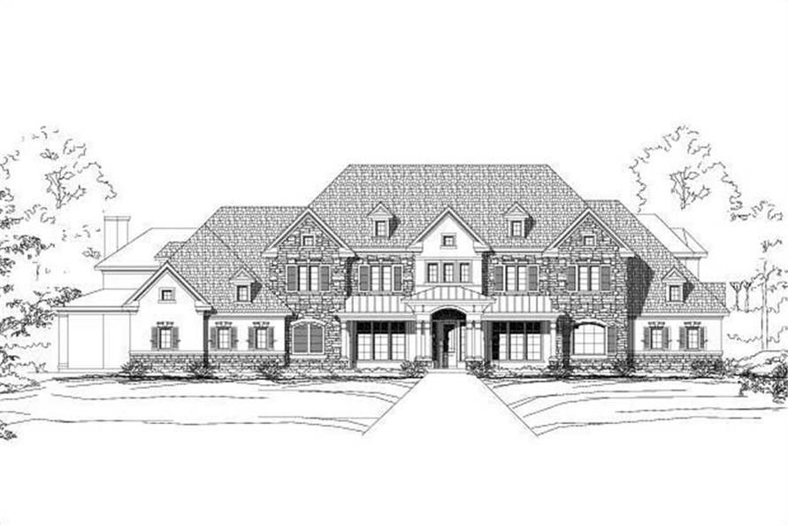 5-Bedroom, 6672 Sq Ft Luxury Home Plan - 156-1758 - Main Exterior