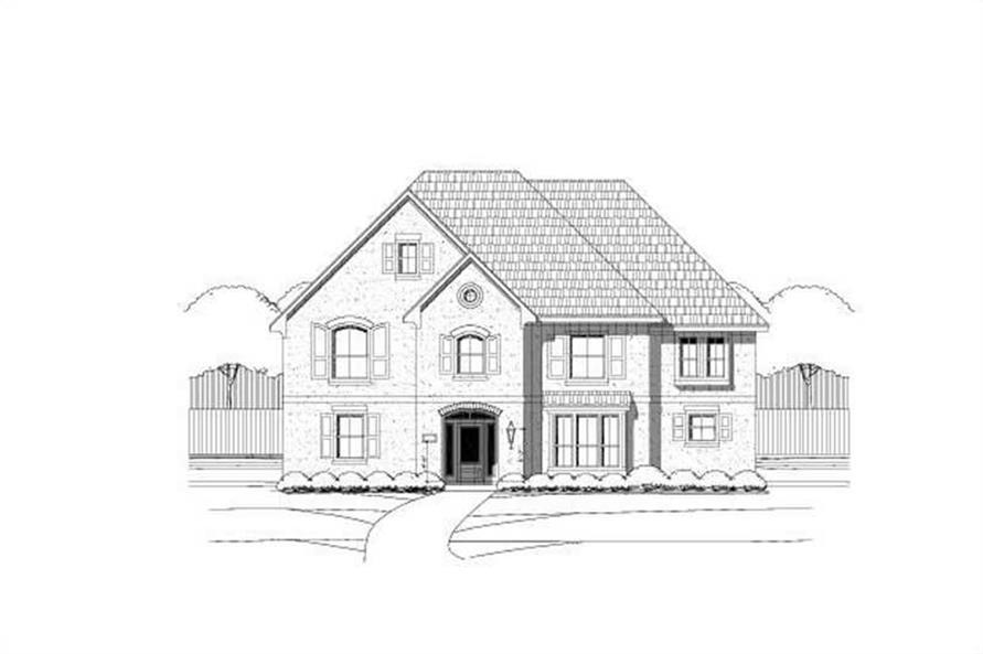5-Bedroom, 4490 Sq Ft Luxury Home Plan - 156-1759 - Main Exterior
