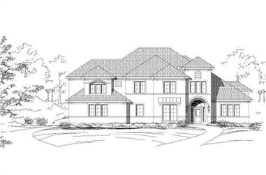 4-Bedroom, 4214 Sq Ft Luxury Home Plan - 156-1760 - Main Exterior