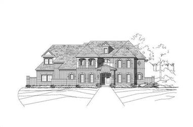 7-Bedroom, 6845 Sq Ft Luxury Home Plan - 156-1764 - Main Exterior