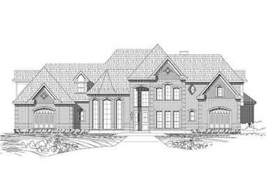 4-Bedroom, 4695 Sq Ft Luxury Home Plan - 156-1765 - Main Exterior