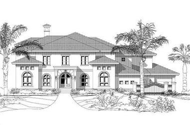 5-Bedroom, 4669 Sq Ft Mediterranean Home Plan - 156-1766 - Main Exterior