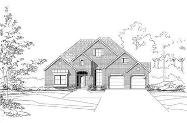 3-Bedroom, 2586 Sq Ft Ranch Home Plan - 156-1768 - Main Exterior