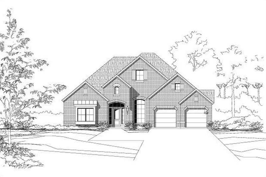 3-Bedroom, 2586 Sq Ft Ranch Home Plan - 156-1768 - Main Exterior