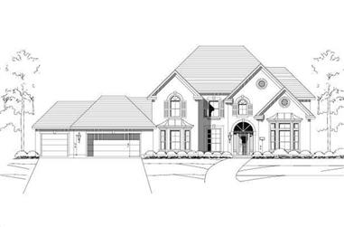 5-Bedroom, 4233 Sq Ft Luxury House Plan - 156-1770 - Front Exterior